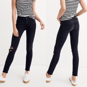 "Madewell 9"" Mid-Rise Skinny Jeans in Black Sea 26"